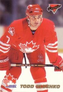 Todd Hlushko Team Canada Card