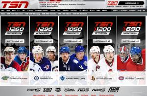 GBB - TSN Radio webpage