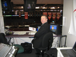 Gord Wilson in the booth